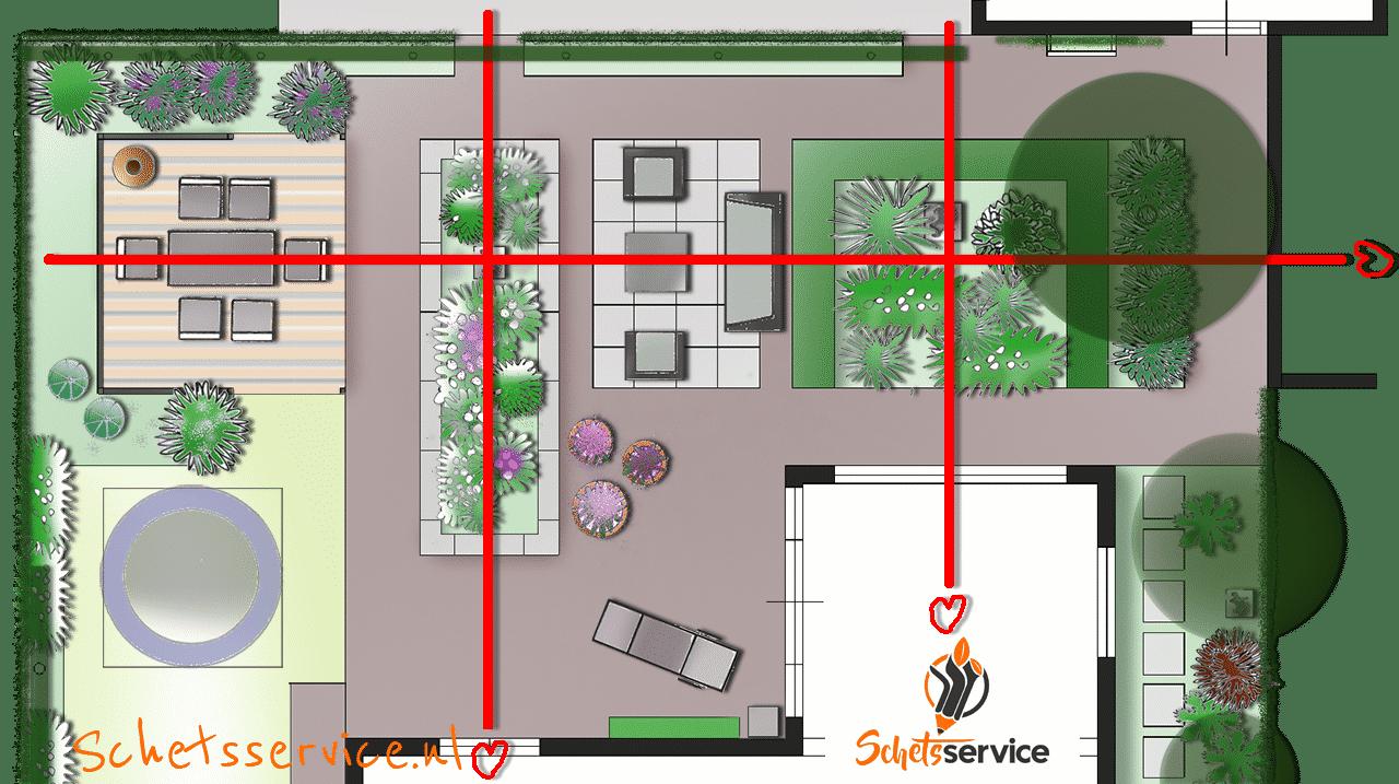 Hartlijnen geven structuur aan het tuinotnwerp